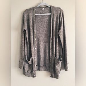 American Apparel grey button up / down cardigan